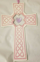 "Easter Pink Cross Hanging Decor 9""X15"" w - $6.99"