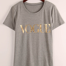 2018 New Fashion Brand Summer T Shirt Women VOGUE Printed T-shirt Women Tops Tee image 3