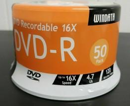 Windata 50PK DVD-R 16X 4.7GB 120MIN Factory Sealed NOS - $30.00