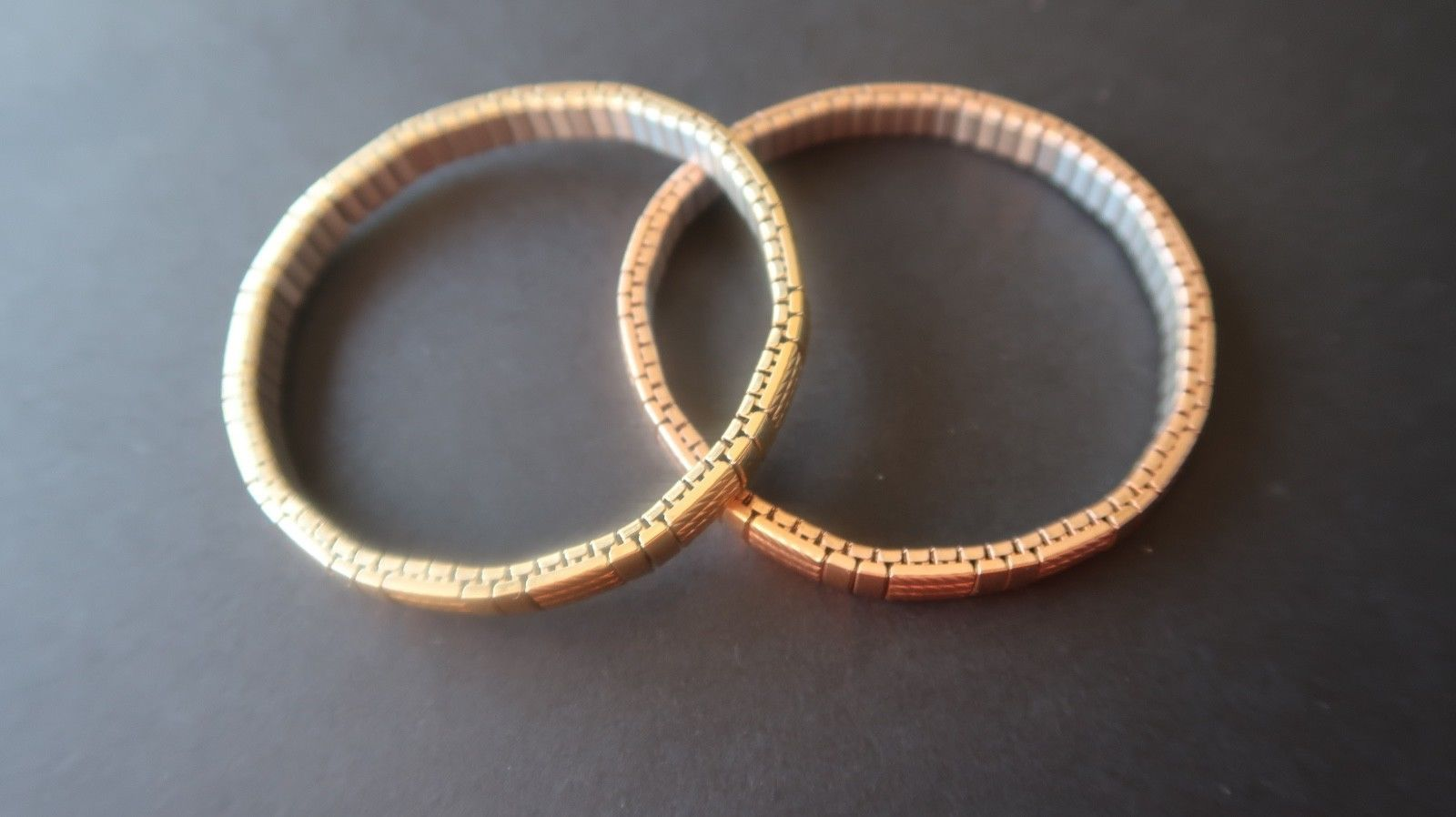 """7.5"""" Milor Yellow and Rose Gold Stainless Bracelets"""