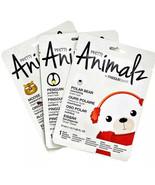 Masque Bar Pretty Animalz Sheet Masks Set of 3 -  Polar Bear, Moose and ... - $13.65