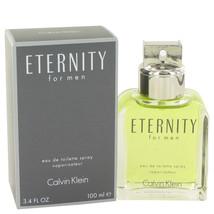 ETERNITY by Calvin Klein Eau De Toilette Spray 3.4 oz for Men #413073 - $34.14