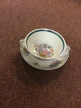 Wedgwood Floral Basket Cream Soup Cup and Underplate Etruria England 1922 - $24.18