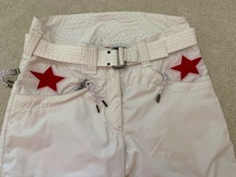 JSX. JET SET St. Moritz White with Red Star Ski Pants, Sz.1 Purchased in Gorsuch image 2