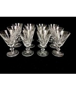 "12 Waterford Ireland Eileen White Wine Glasses Cut Glass Crystal Barware 5"" - $224.40"