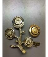 Vintage 10k Solid Gold Hadassah Pin - 2.9 Grams Plus 2 Other Hadassah Pins - $123.74