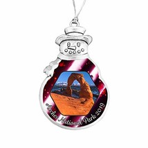 Holly Road Arches National Park Christmas Ornament Choose Snowman Snowfl... - $14.84