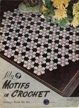 Vintage 1953 Irish Crochet Doily Chair Vanity Set Tablecloths Place Mat ... - $12.99