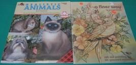 2 Book Realistic Animal Vi Thurmond Wood Rub Out Painting on Gessoed Mas... - $5.93