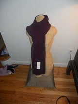 """UGG® Australia Cardy Large Cable Stitch Scarf 80"""",Eggplant, MSRP $149 - $75.16"""