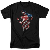 Superman T-shirt Patriotic Truth & Justice DC comics graphic tee SM1855 image 1