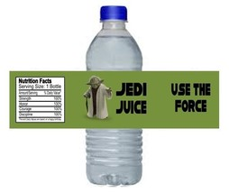 Star Wars Yoda Jedi Birthday Party Water Bottle Labels Favors Personalized - $4.00