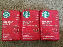 Starbucks Holiday Blend 2019 Ground Coffee Medium Roast (10oz bag) 3pk - $23.25