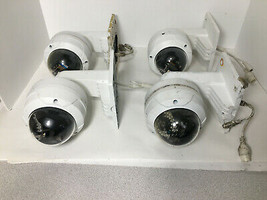 Lot of 4 Alibi untested IP Dome Cameras including outdoor wall mounts - $222.75