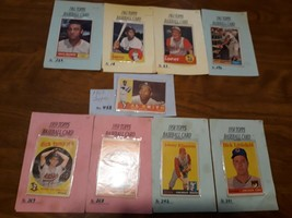 LOT OF 9 VINTAGE BASEBALL CARDS 1958-1963 - $19.34
