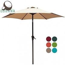 Patio Umbrella, 7.5' Outdoor Table Market Umbrella with Push Button Til... - $59.36