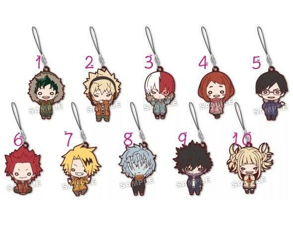 My Hero Academia Boku no Hero Akademia Rubber Strap Keychain Key Ring Cosplay  - $3.84 - $4.93