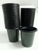 70 - 4 inch Round Green Nursery Pots Plastic plants pot flower Myers L & G - $11.50 CAD