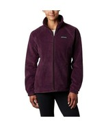 Columbia Women's Benton Springs Zip Fleece Jacket, Black Cherry, S - $28.35