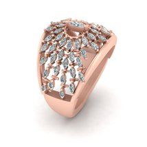 0.80cttw Diamond Engagement Ring For Her Art Nouveau Promise Ring Gift For Her - $1,099.99