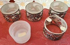 Vintage Silver Plate Tealight Votive Candle Holders - Set of 4 image 4