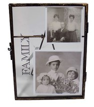 """Distressed Metal Glass Family Picture Photo Frame 4"""" X 6"""" 11 X 2 X 15CM - $6.45"""