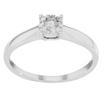 18k White Gold Diamond Engagement Ring Bliss by Damiani Illusion  0.17 Cttw - $439.00
