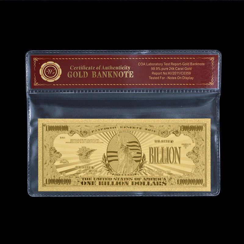 WR Banknote US $1 Billion Dollar Bill Gold and 50 similar items