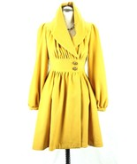 Women's Plenty Tracy Reese Ruched Marigold Mustard dress Coat Fit Flare... - $186.53