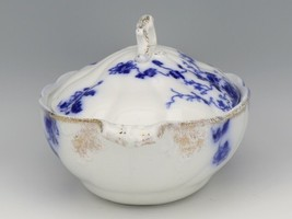 Flow Blue Duchess Oval Covered Vegetable Dish c1900 Grindley England image 2