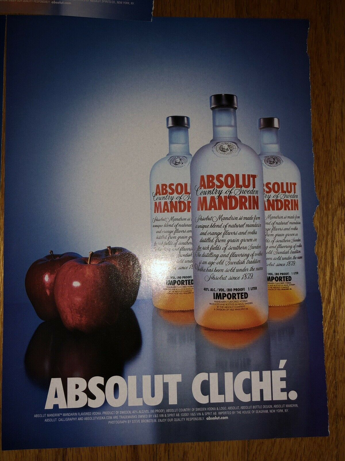Absolut Mandarin Ad Collection - Revealed, Arrival, Cliche, Balance, Squeeze - $4.99