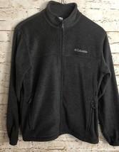 Columbia Fleece Zip Front Jacket Gray Men's Size Medium - $21.98