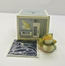 LLADRO #6702 NATURE'S OBSERVER IN BOX GREEN FROG TOAD SPRING RARE - $111.99