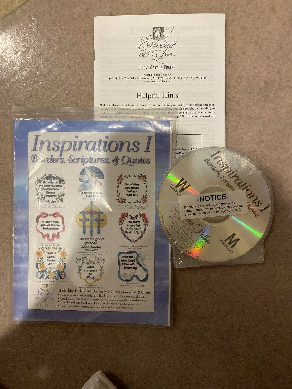 Primary image for Martha Pullen Machine Embroidery CD Inspirations I Borders Scripture Quotes 21