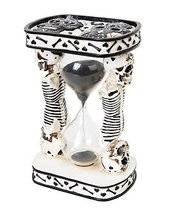 6.13 Inch White Day of The Dead Sand Timer Hourglass Statue Figurine - $21.73