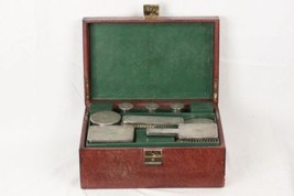 Authentic GUCCI VINTAGE  Leather TRAVEL GROOMING SET w/ Silver TOILETRY ... - $643.50