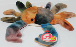 1996 Ty BEANIE BABIES ORIGINAL CLAUDE THE CRAB ERRORS On TAGS Retired RA... - $311.84
