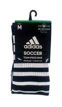 ADIDAS Climacool Soccer Team Speed Socks sz M Medium (5-8.5) Black White - $18.99