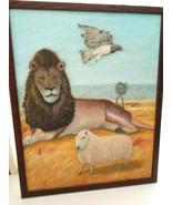 Haiti Folk Art  - Birds, Animals, Jungle Painting With Hand Made Frame - $199.99