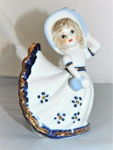 Vintage Bell- Victorian Lady - White Color- Glazed Porcelain/Bisque -Col... - $19.80