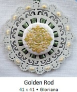 Golden Rod Laser Lace Ornament cross stitch chart Keslyn's - $8.00