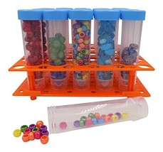 Bead Storage Solutions Medium Containers – Plastic Test Tubes for Beads – 20 Scr
