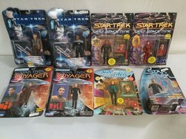 Lot of (8) VTG Star Trek Action Figures Voyager Deep Space 1st Contact Next Gen. - $37.36