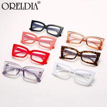 Fashion Ladies Glasses Small Frame Cat Eye Flat Glasses Candy Color Frame Optica image 6
