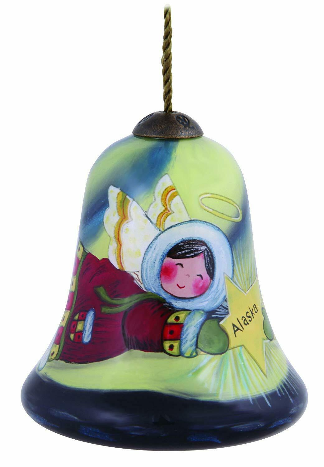 Primary image for Alaska Angel Ne'Qwa Ornament New Christmas Bell Shape Susan Winget NO BOX