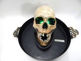 Gemmy Skull Animated Candy Dish Bowl Head Singing Halloween Motion Activ... - $34.64