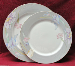 MIKASA CHINA - CHARISMA GRAY - (1) DINNER PLATE (1) CHOP PLATE / SERVING... - $24.95