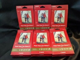 """Lot of 6 100 Canon PP-301 Photo Paper Plus Glossy II 4"""" x 6"""" 600 Sheets Total - $28.04"""