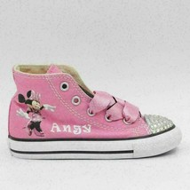 Converse All Stars Infant Girls Hi Top Sneakers Size US 8 Minnie Mouse - $50.93