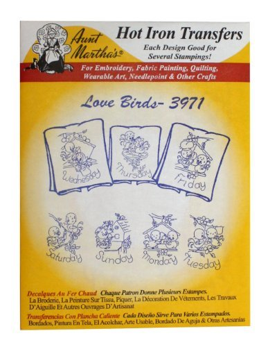 Aunt Martha's Iron On Transfer Patterns for Stitching, Embroidery or Fabric Pain